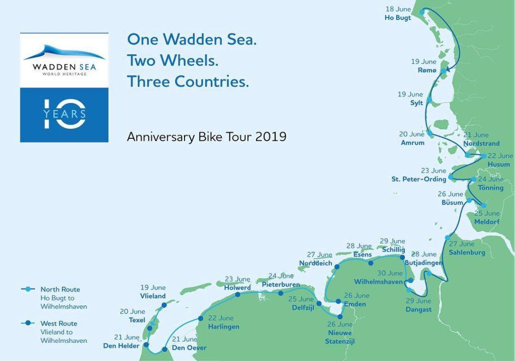 Radtour zum Jubiläum Wadden Sea World Heritage