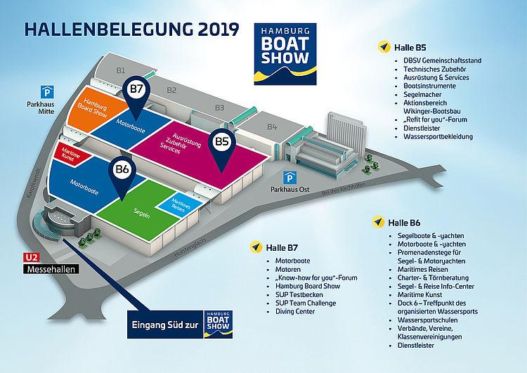 Hallenplant der Hamburg Boat Show